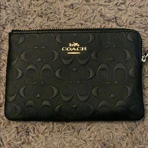 Coach black matte wristlet 💖 New